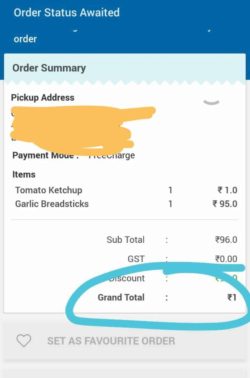 Get Dominos Garlic Bread at ₹1