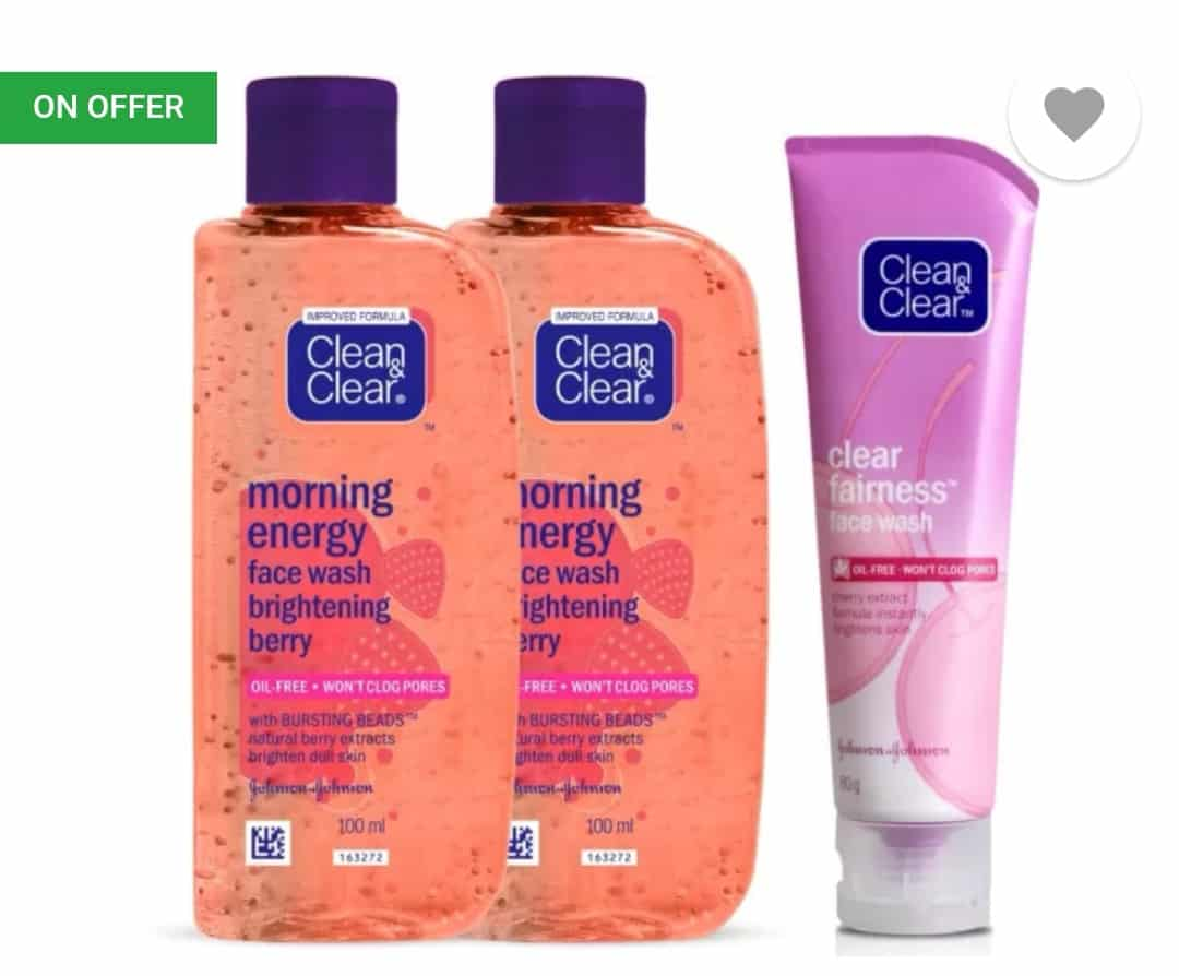 Clean & Clear Morning Energy Brightening Berry Face Wash(280 ml) at Rs.246