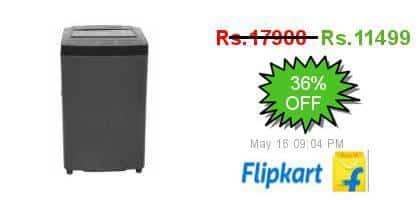 [Prepaid] Godrej 6.2 kg Fully Automatic Top Load Washing Machine Grey (WT EON 620 A Gp Gr) Rs. 10399 (HDFC) or Rs. 11599