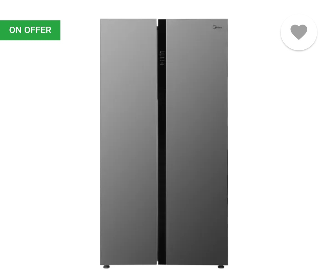 [ Pre Paid ] Midea 584 L Frost Free Side by Side Refrigerator Rs.43490