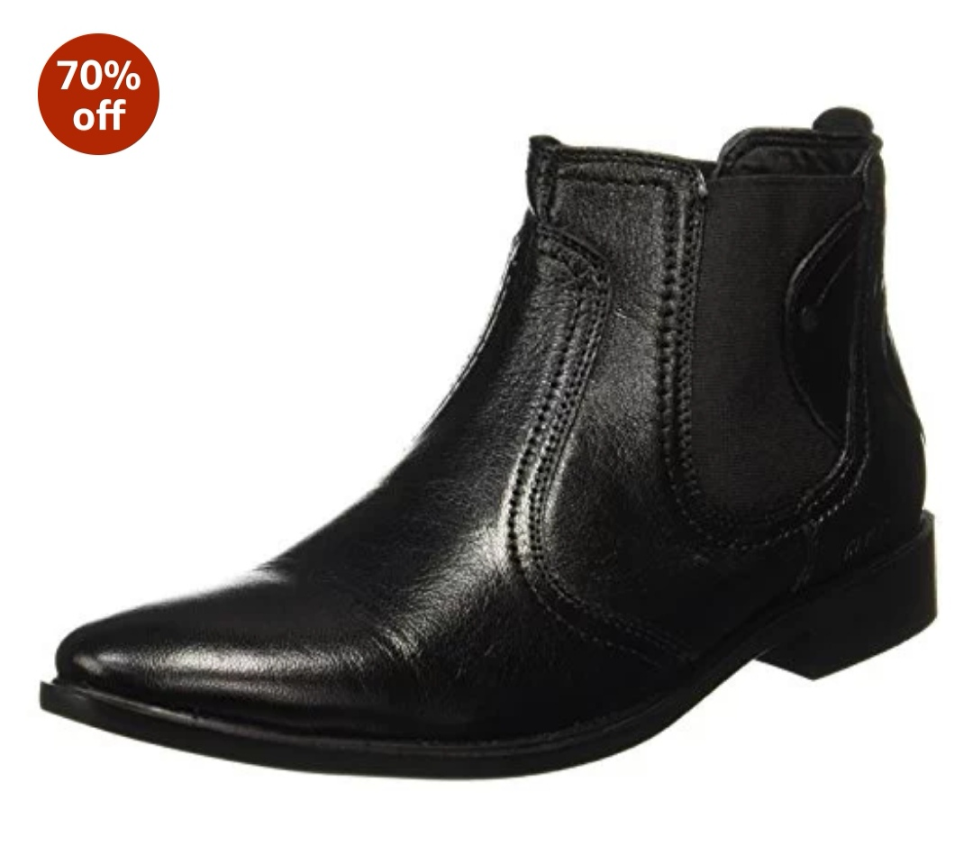 Red Chief Men's Black Formal Shoes -Rs. 1048
