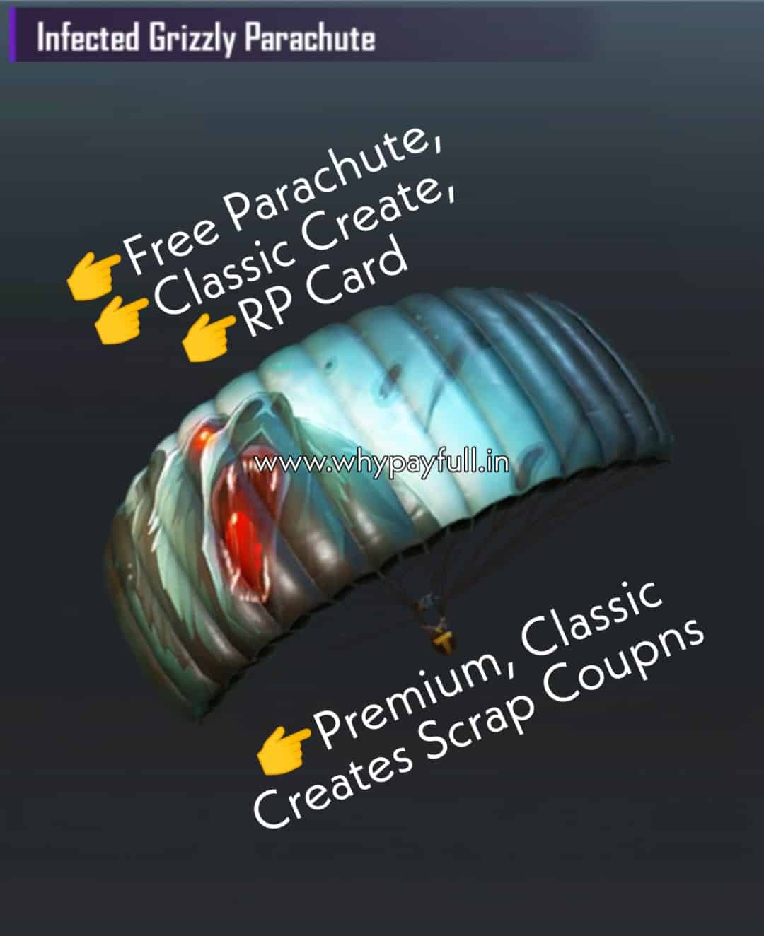 PUBG LOOT: Free Permanent Parachute, Classic Create, And RP Card for Elite Users