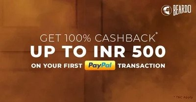 Paypal – 100% Cashback up to Rs.500 At Beardo