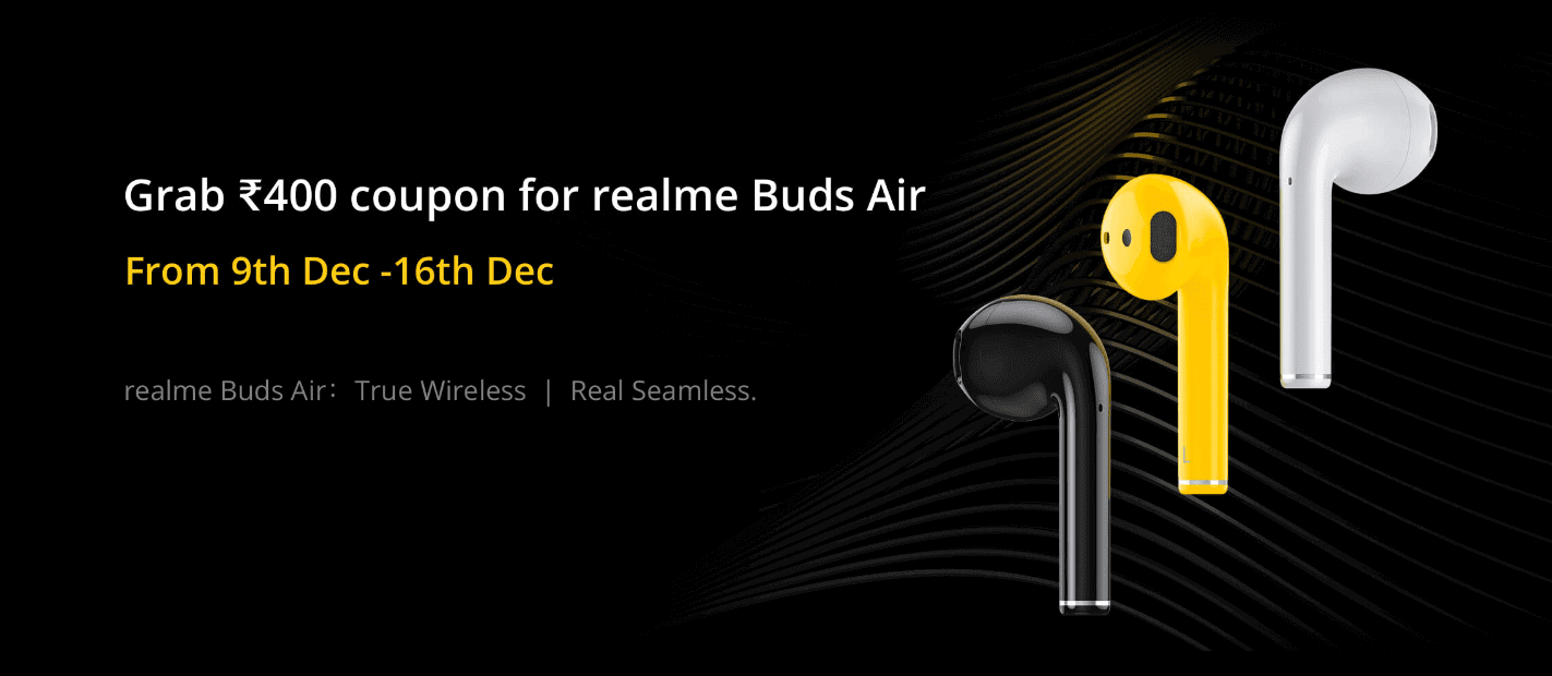 Flat Rs.400 Off on Realme Buds Air