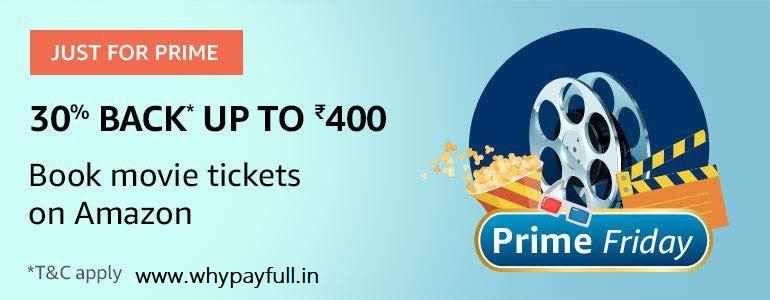 Amazon: Get 30% Back Upto ₹400 On Movies.