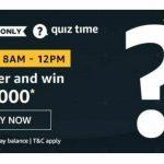 Amazon Quiz Answers – 13th Dec 2020 – Win Oppo A35 Today.