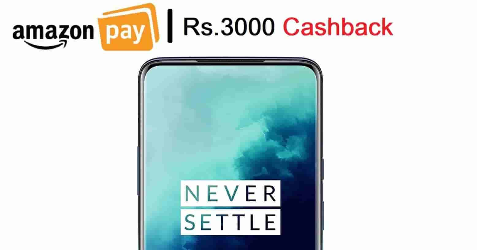 OnePlus 7T/PRO – Flat Rs.3000 Cashback