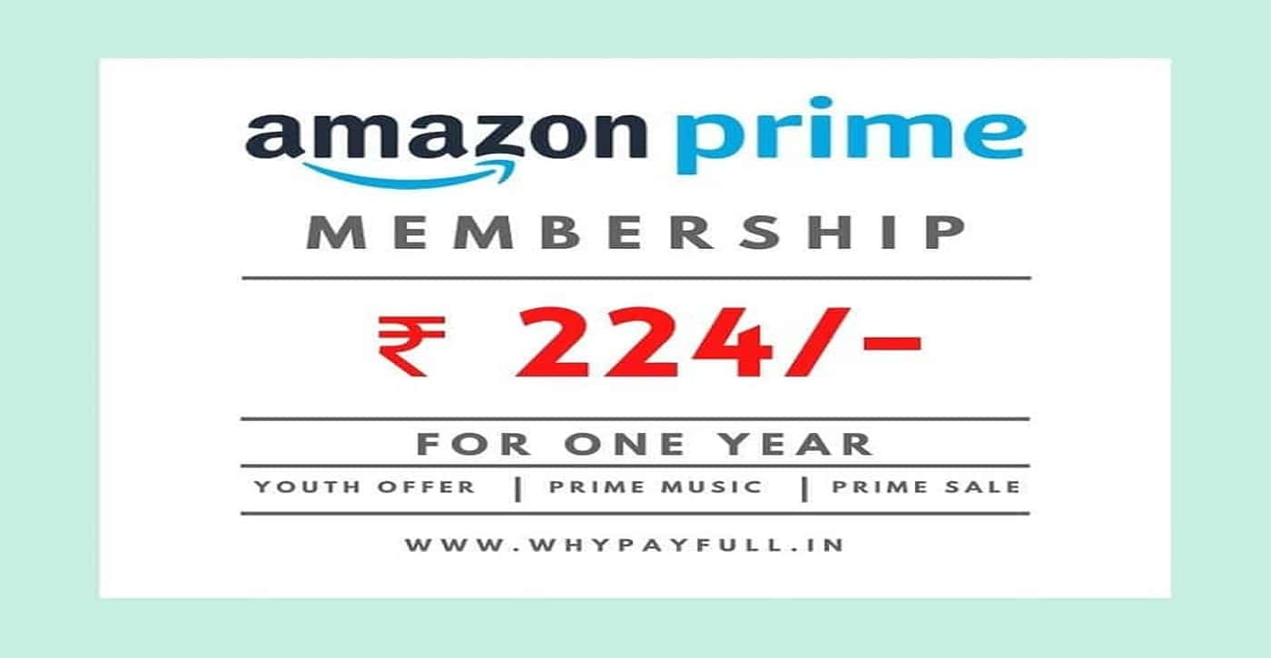 [Proof Added] – Amazon Prime Membership just ₹224 only for 1 Year | Limited Time Offer