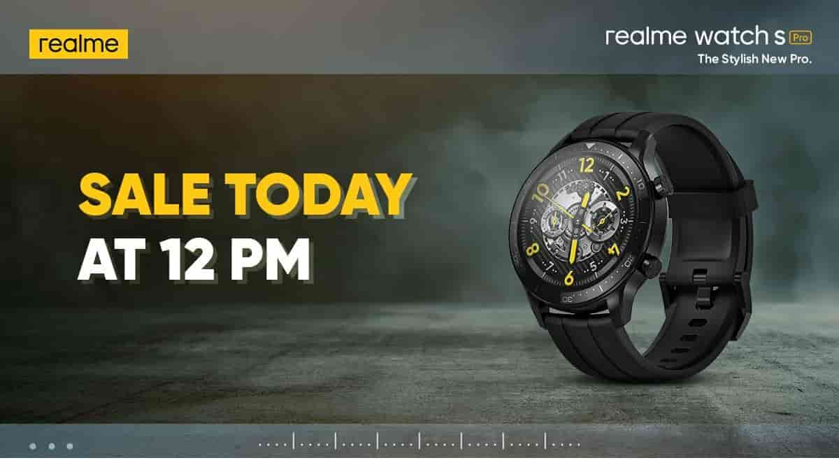 Realme Watch S Pro First Sale Today
