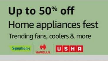 Amazon Home Appliances Fest   Get Upto 50% Off