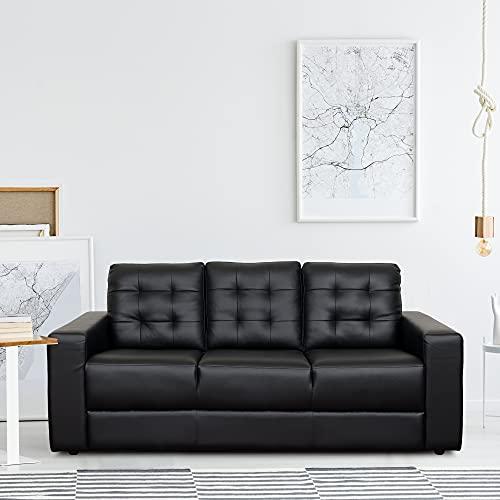 TADesign Valeria Leatherette Sofa (3 Seater) at ₹9092