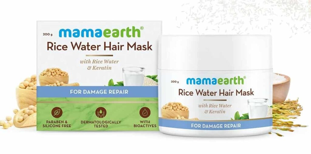Mamaearth Rice Water Hair Mask with Rice Water and Keratin - MamaEarth Rice Water Products Reviews Prices on whypayfull.in